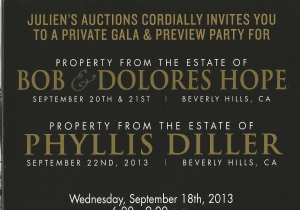 My personal invitation to the Phyllis Diller auction preview.