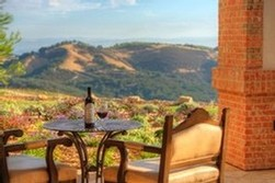 The view from the patio at Daou Winery in Paso Robles.
