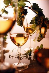 white with grapes