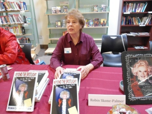the book signing at the library a month ago. has nothing to do with Phyllis's movies, but Stephen Murray who was sharing the table with me just sent this and I wanted to post it. So there.