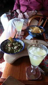 Margaritas and gaucomole while watching the fog roll in through the Golden Gate.