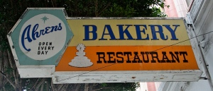 Ahren's Bakery - the site of our delicious Easter Monday for many years.